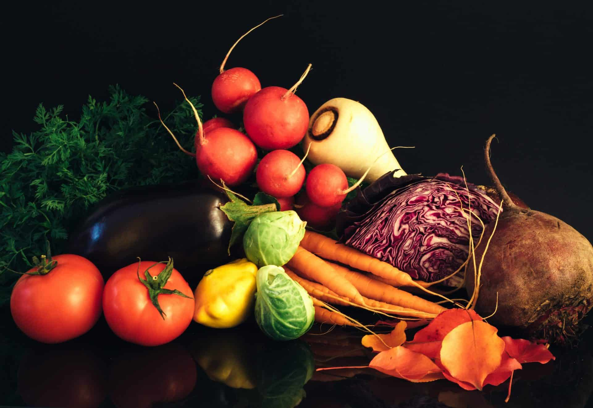 Variety-of-vegetables-on-table