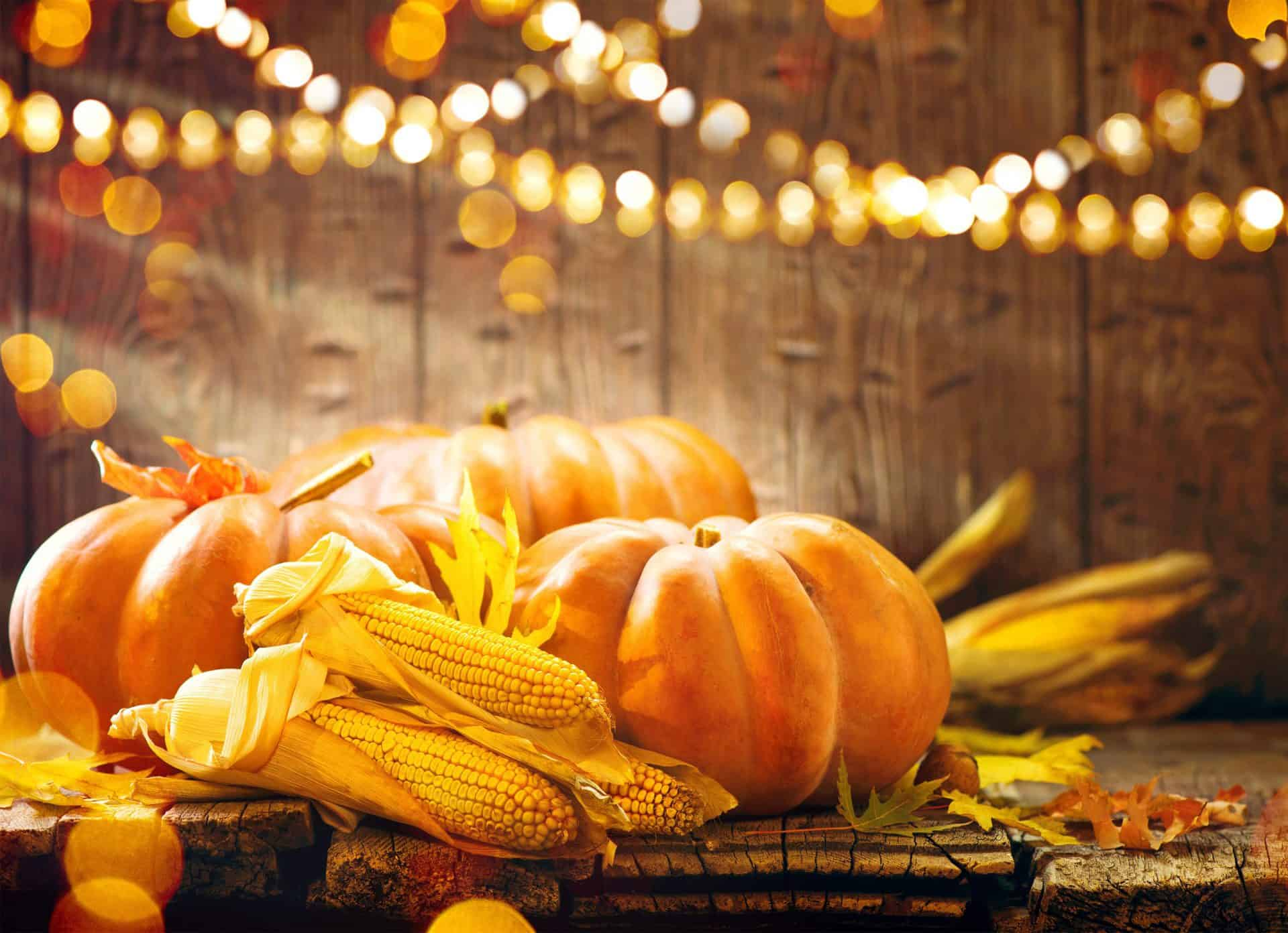 Thanksgiving-decorations-with-pumkins-and-corn