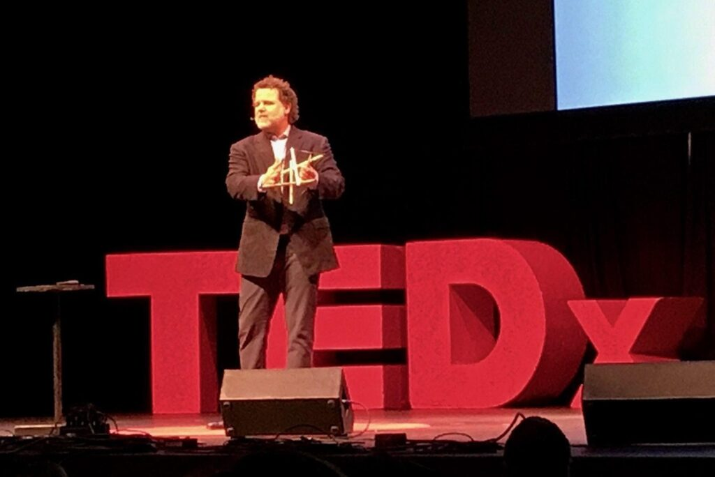 Dr-David-Haase-speaking-at-TED-talk-on-dementia-and-alzheimer