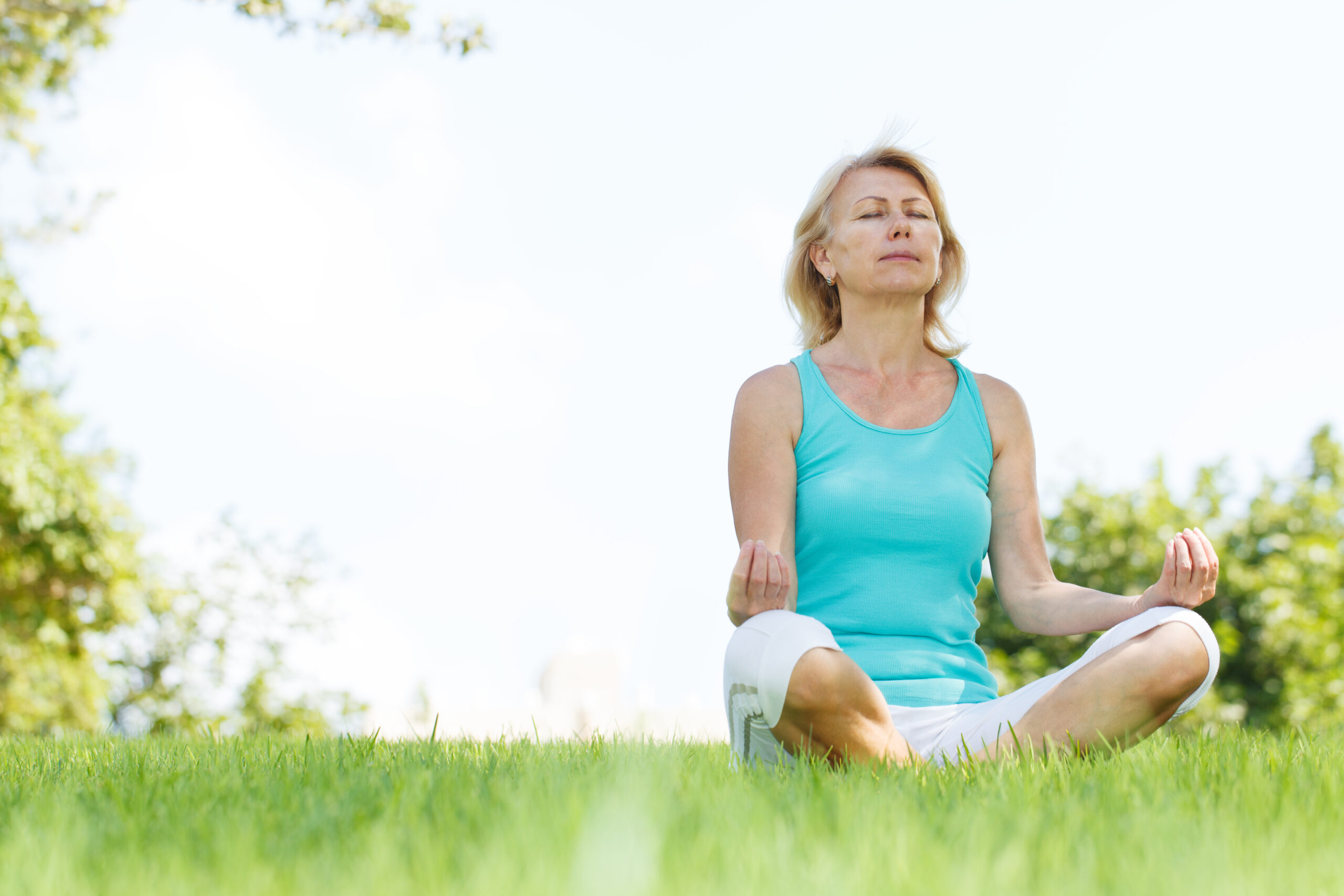 Woman-practicing-breathing-techniques-for-stress-relief